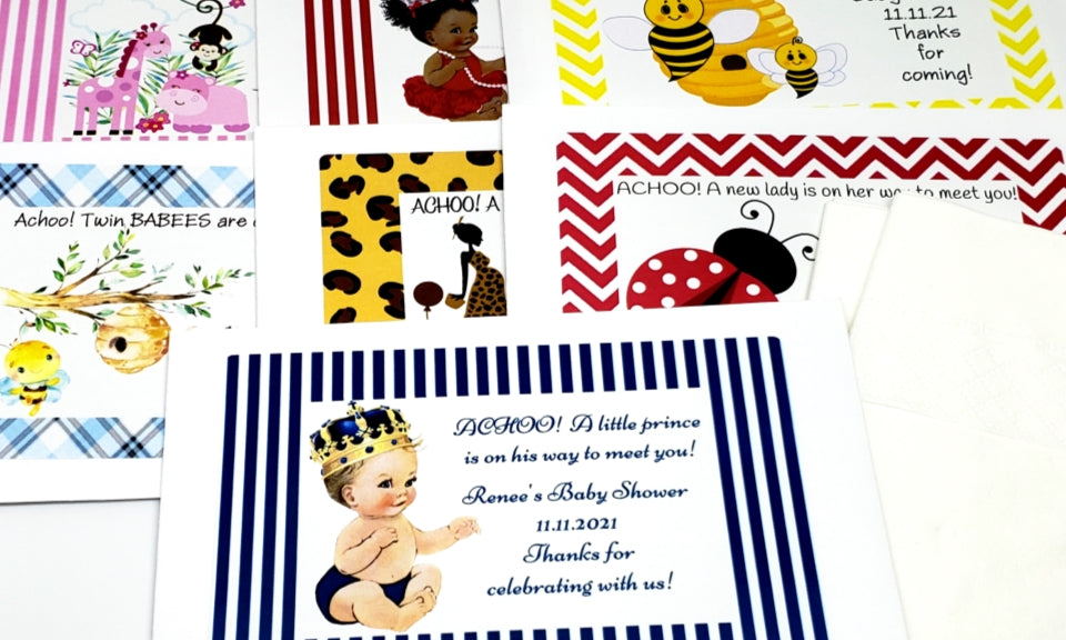 Personalized Baby Shower Tissue Packets