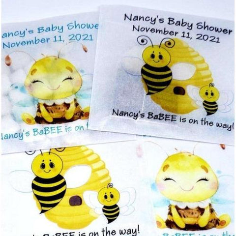 Personalized baby shower favor bags