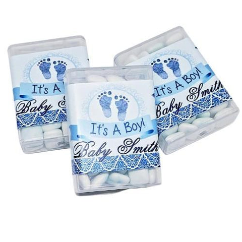 Personalized baby shower tictac mint favors