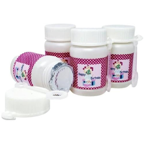 Personalized spa birthday party bubble labels and favors
