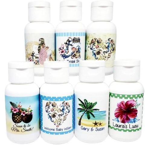 Personalized bridal shower lotion favors