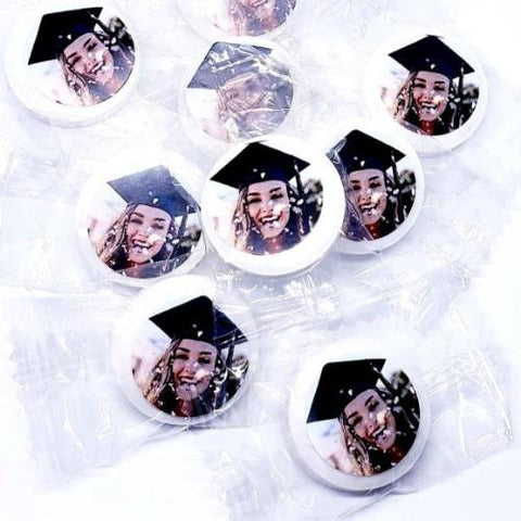 Personalized photograph graduation mint favors