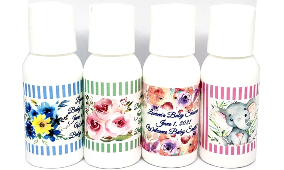 Baby Shower Sanitizer Lotion Shampoo and Conditioner Favors