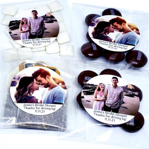 Personalized add your photograph cello favor bags