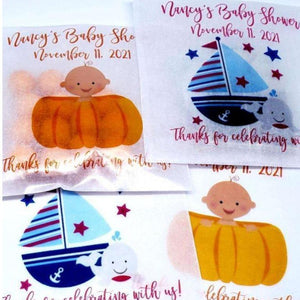 Baby Boy Personalized Glassine Favor Bags