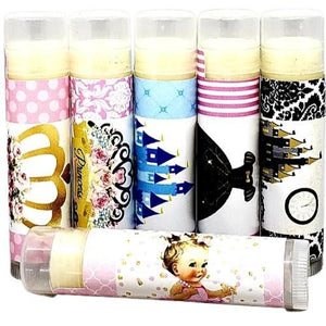 Personlized Birthday Party Lip Balm Favors