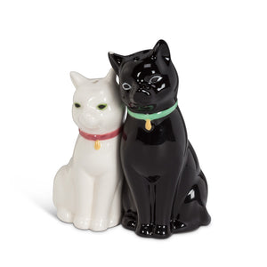 Cuddling Cat Salt and Pepper Shakers
