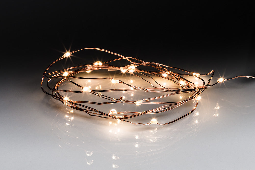 Copper Droplet LED Light String