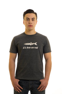 Men's Grey T-Shirt, Caplin, It's How We Roll I Newfoundland | Johnny Ruth