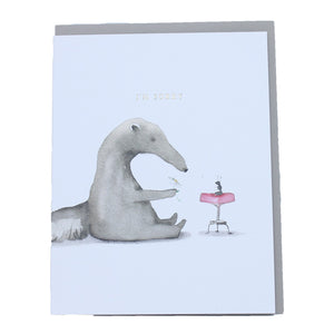 Sorry Anteater Card