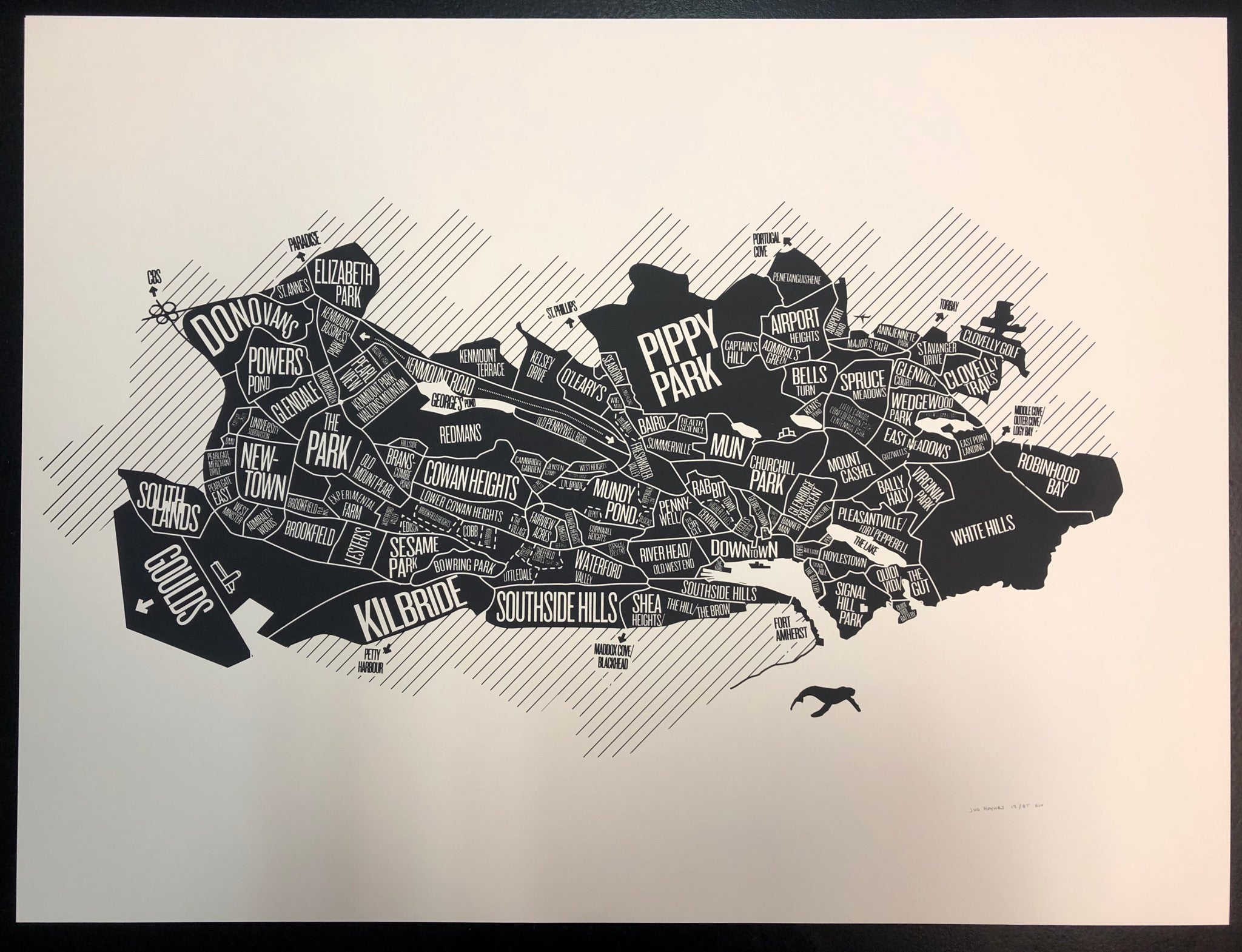 Neighborhood Map Print (18 X 24)