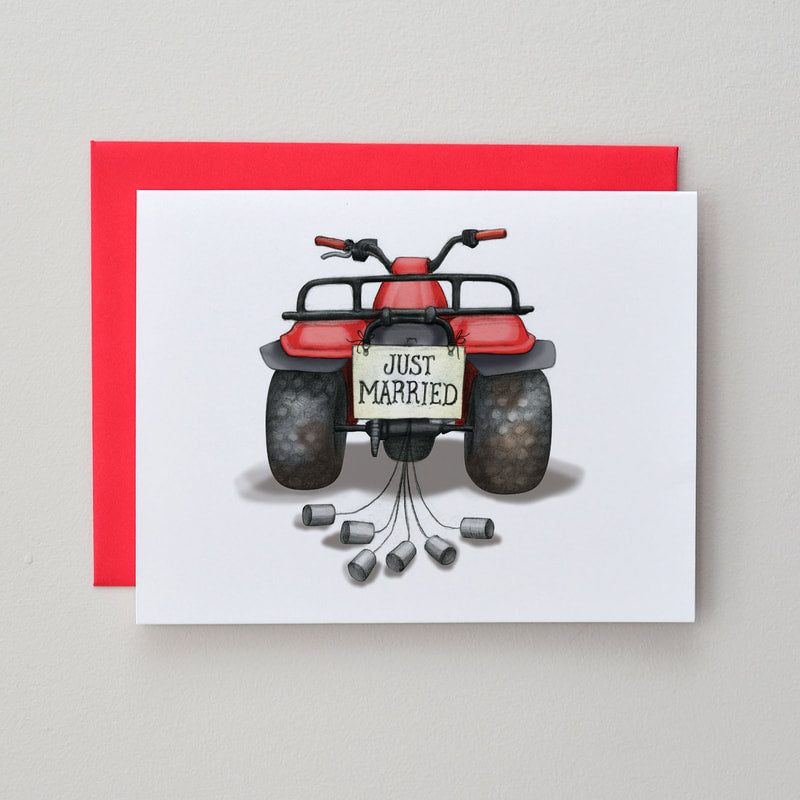 Big Red Wedding Card
