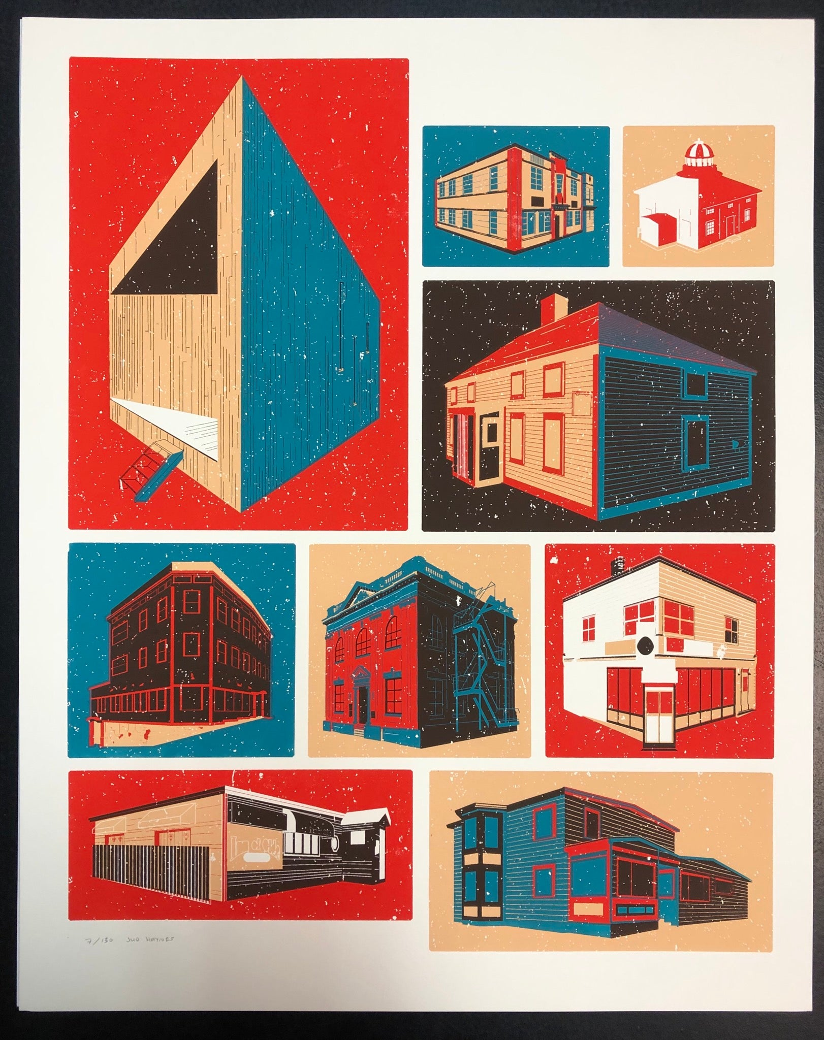 Newfoundland Buildings Print (16 X 20)