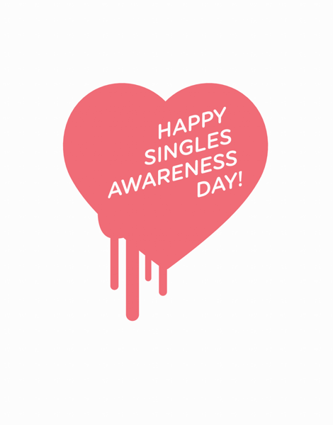 Singles Awareness Day Card