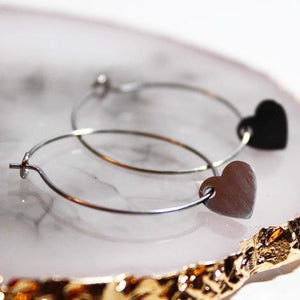 Heart Hoops - Stainless Steel