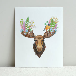 Moose and Robin 8x10 Print