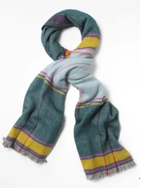 Siobhan Check Midweight Scarf