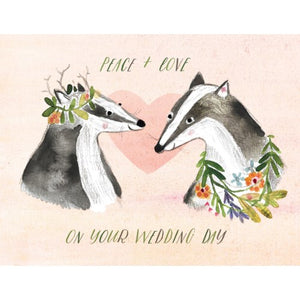 Badger Wedding Card
