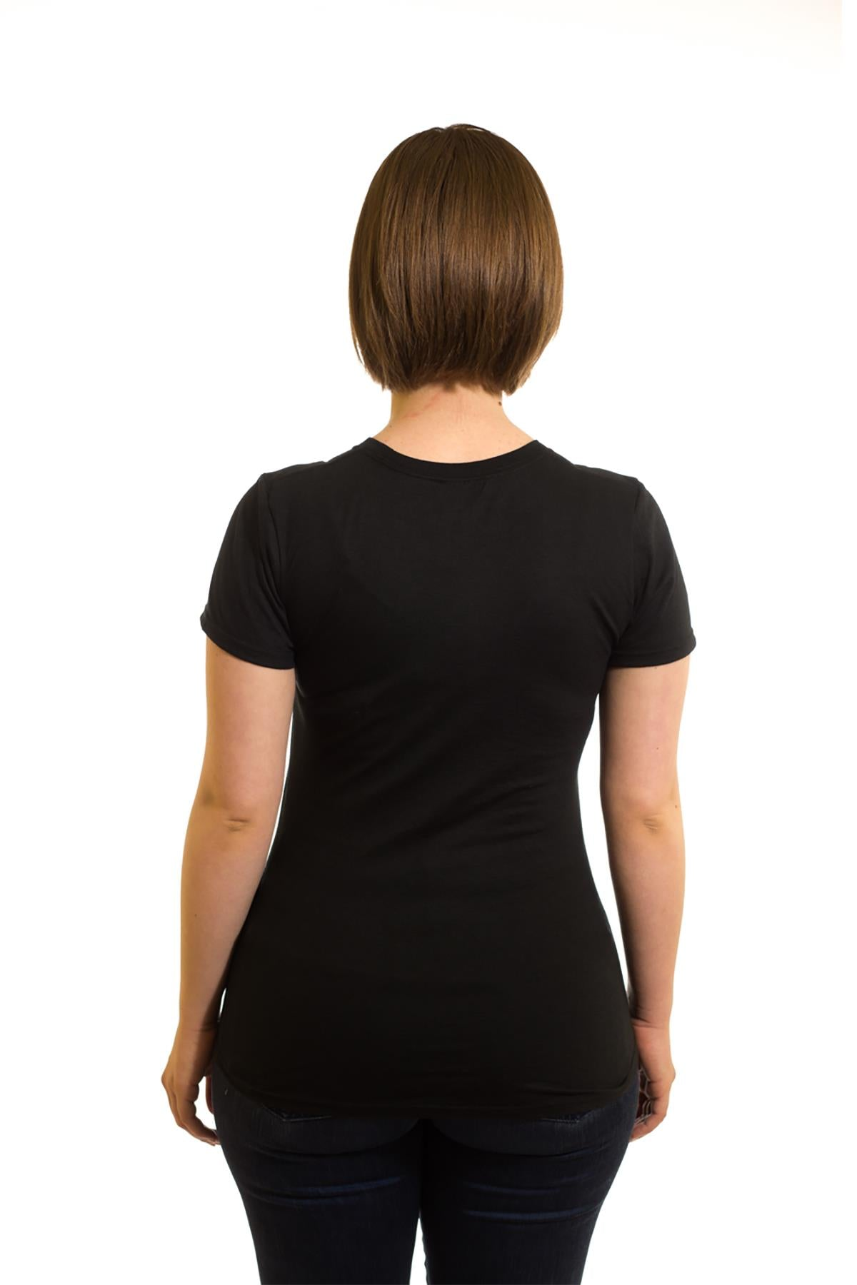 Women's Black T-Shirt Spinning Moose | Newfoundland | Johnny Ruth