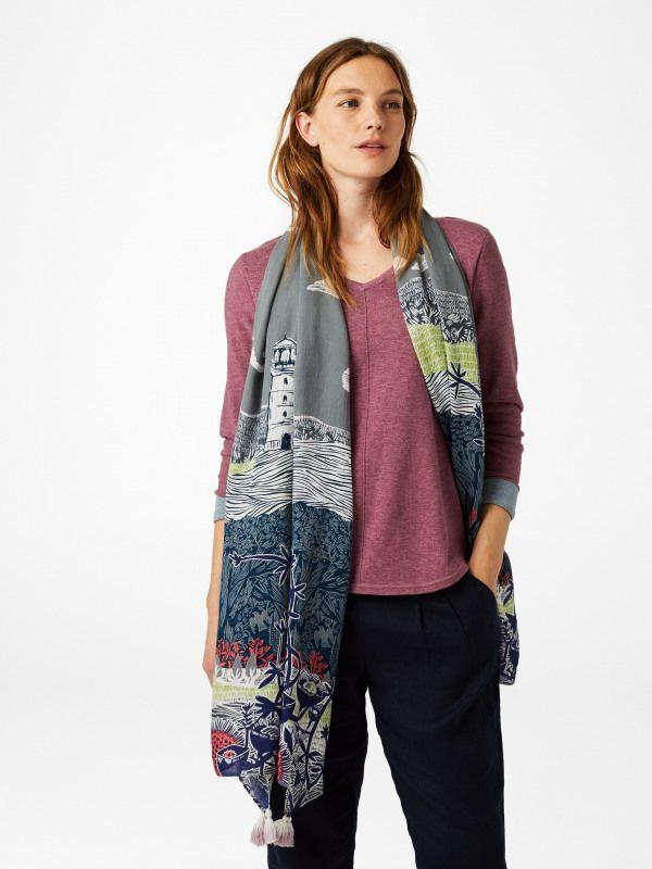 Lighthouse Printed Scarf