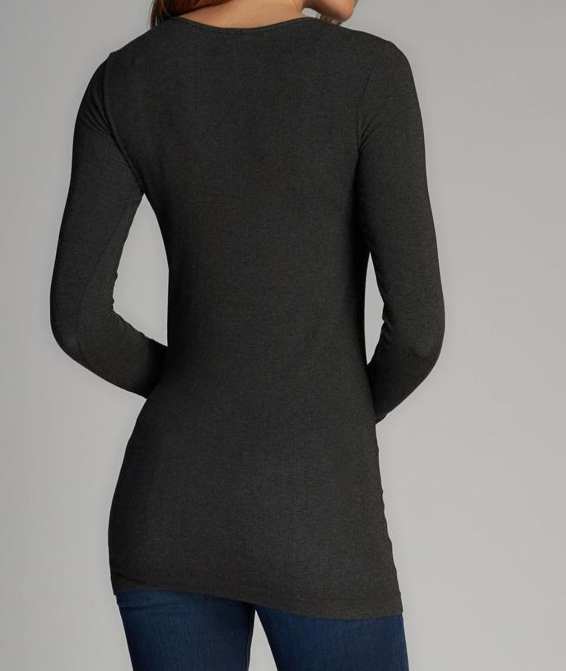 Bamboo Long Sleeve Scoop-Neck