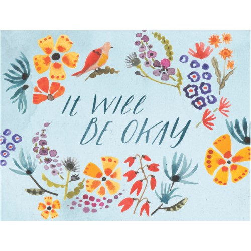 Floral Print Encouragement Card