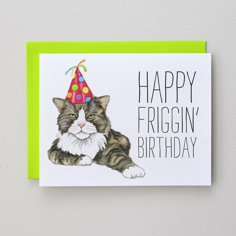 Happy Friggin Birthday Card