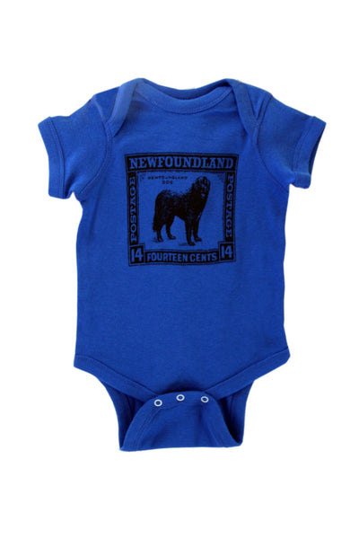 Blue Baby Onesie Dog Stamp | Newfoundland | Johnny Ruth