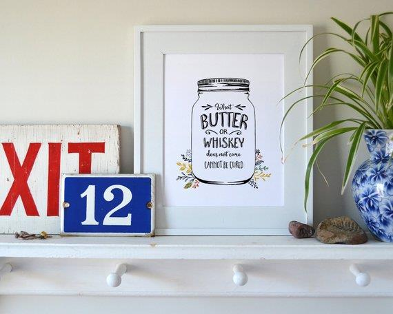 Butter & Whiskey Print