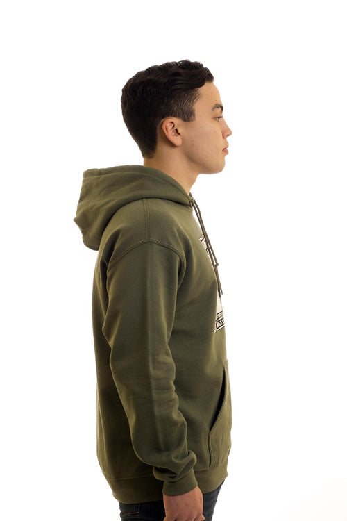 Men's Green Hoodie Fighting Newfoundlander | Newfoundland | Johnny Ruth