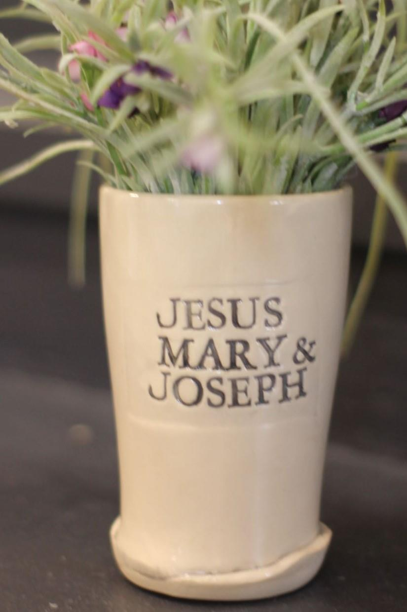Jesus, Mary and Joseph Beer Glass
