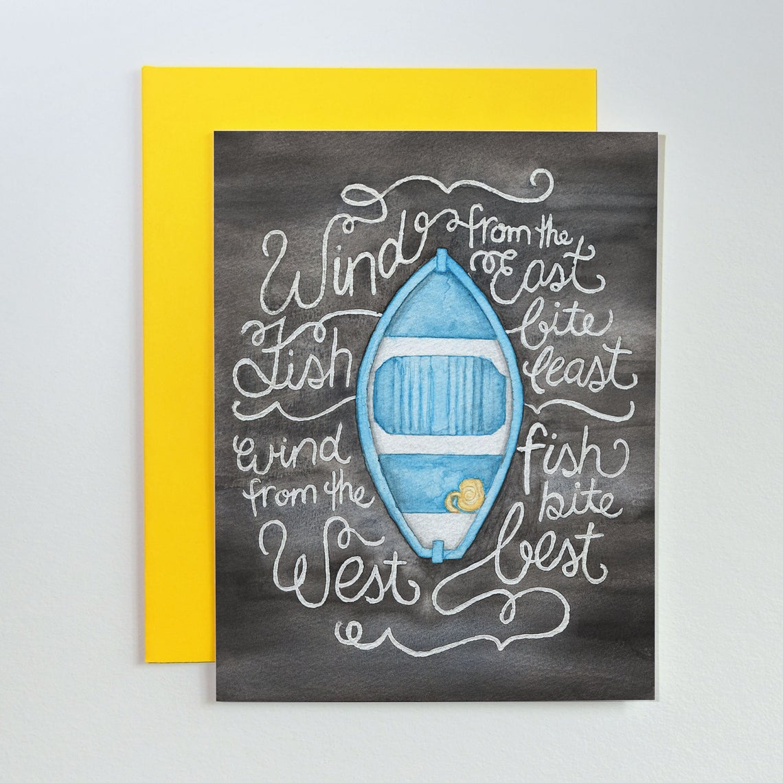 Little Blue Dory Card