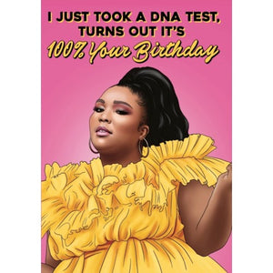 Lizzo DNA Test Card