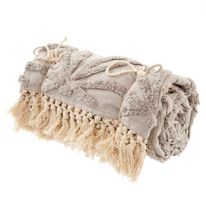 Tufted Lola Throw - Taupe