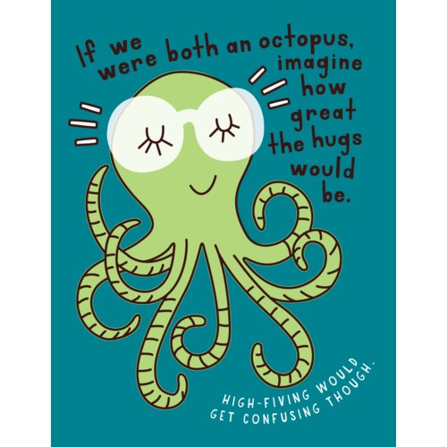 Octopus Hugs Card