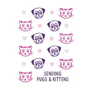 Pugs And Kittens Card