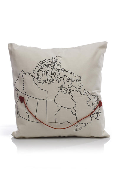 Canada Heart Map Pillow | Johnny Ruth | Newfoundland