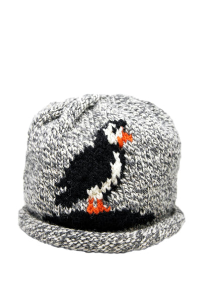 Ollie Doyle Grey Puffin Wool Hat | Newfoundland | Johnny Ruth