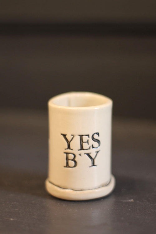 Yes B'y Shot Glass