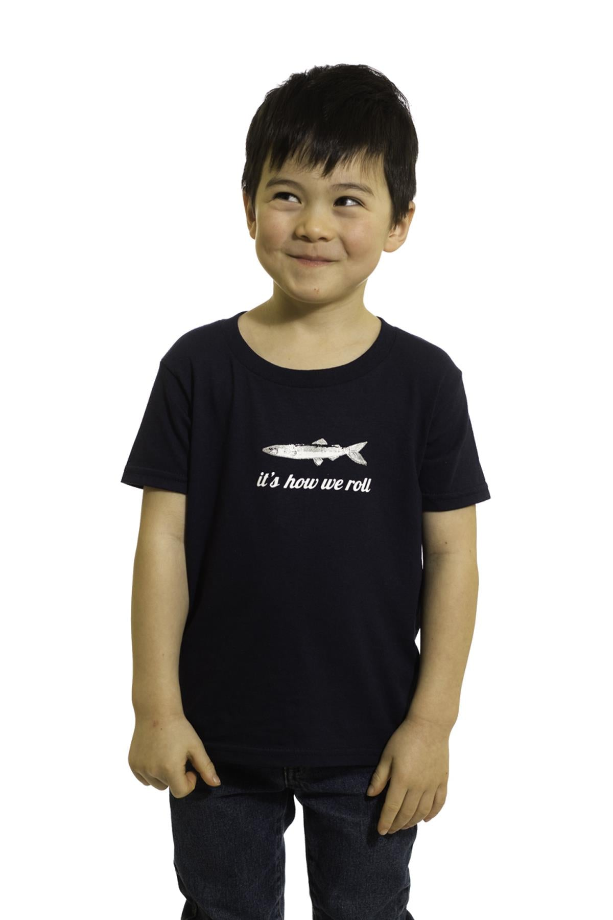 Kids Black Fish T-Shirt | Newfoundland | Johnny Ruth