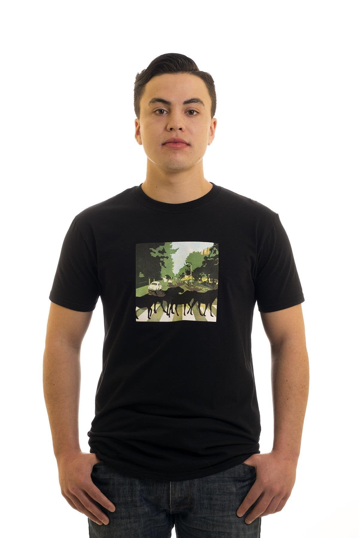 Men's Black T-Shirt Abbey Road | Newfoundland | Johnny Ruth
