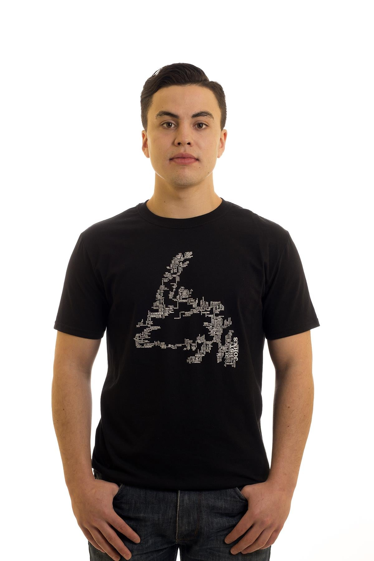 NFLD Place Names Map T-Shirt