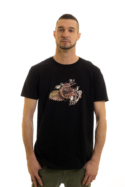 Men's Black T-Shirt Sculpin| Newfoundland | Johnny Ruth