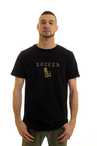 Men's Black T-Shirt Rocker| Newfoundland | Johnny Ruth