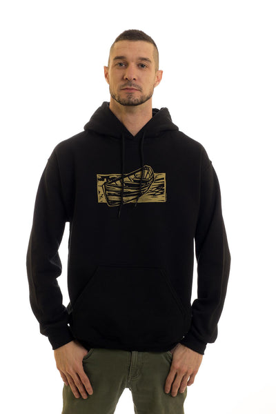 Men's Black Hoodie Dory| Newfoundland | Johnny Ruth