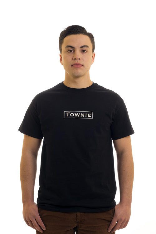 Men's Black T-Shirt Townie | Newfoundland | Johnny Ruth