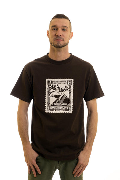 Men's Black T-Shirt Moose | Newfoundland | Johnny Ruth