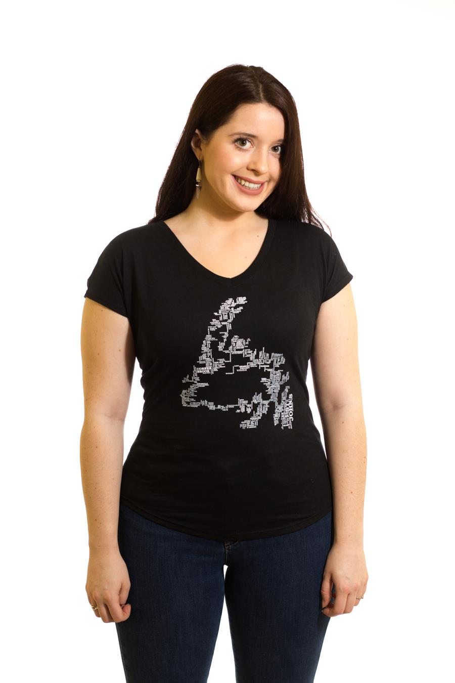 Women's Place Names Map T-Shirt| Newfoundland | Johnny Ruth