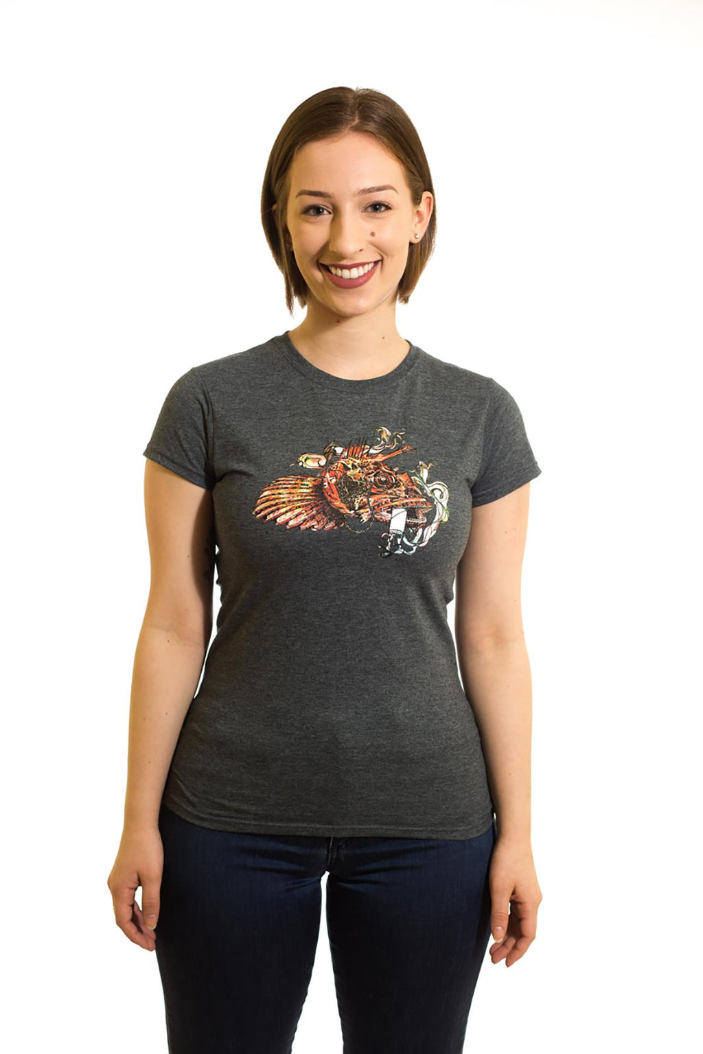 Women's Grey T-Shirt Sculpin| Newfoundland | Johnny Ruth