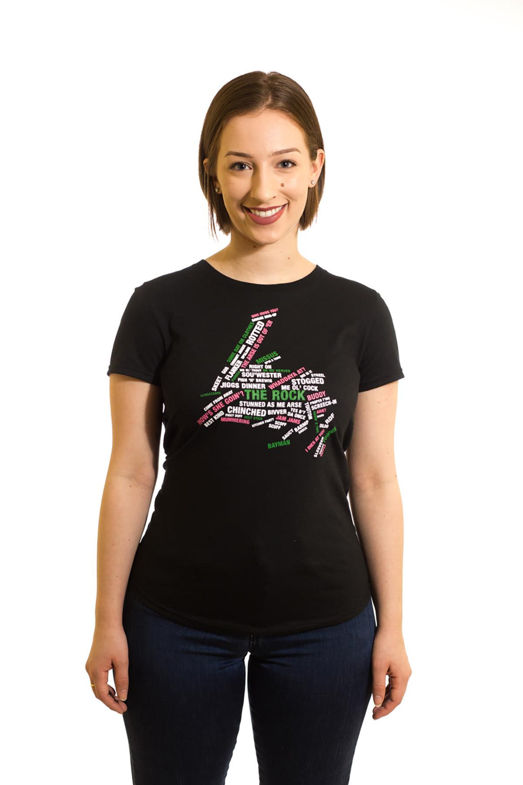 Women's Black T-Shirt Townie | Newfoundland | Johnny Ruth